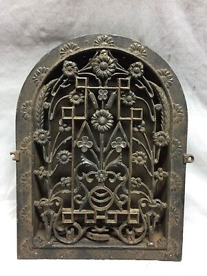 Antique Cast Iron Arch Dome Top Floor Register Heat Grate 9X13 Old Vtg 742-18C
