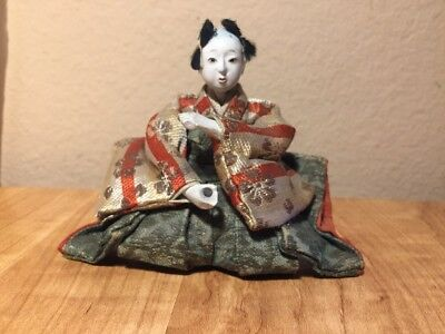 "Antique Vintage Japanese GoFun Doll, 4"" tall"