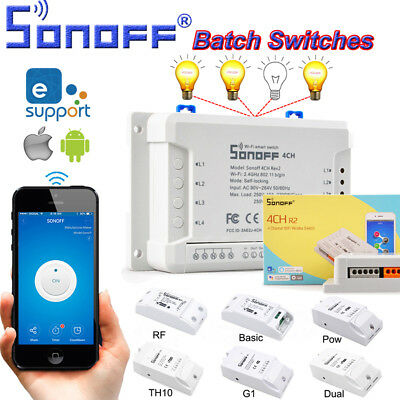 Sonoff Smart Home WiFi Wireless Switch Module For IOS Android APP Ctrl hot sale
