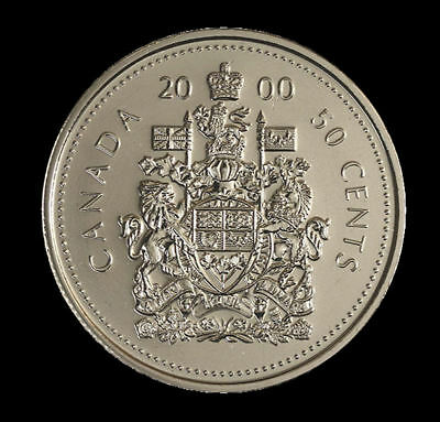 2000 CANADA 50 CENTS  Half Dollar COIN Uncirculated from roll
