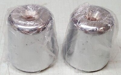 Set of OEM Vespa Piaggio Moto Guzzi Handlebar Chrome Weights End Caps 582034 NEW
