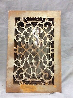 Antique Cast Iron Decorative Heat Grate Floor Register 8X12 Vintage Old 5-19D