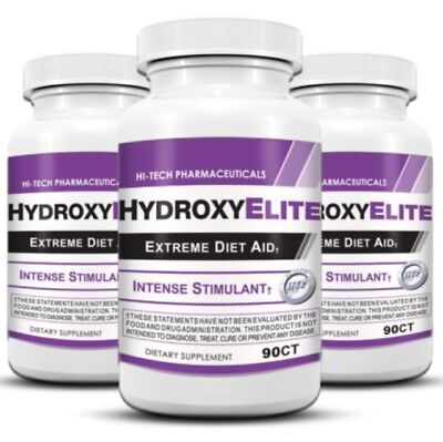 3 X Hi-Tech Pharmaceuticals Hydroxy Elite Extreme Diet Aid Fast Shipping
