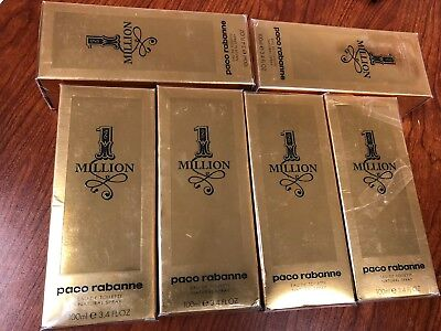 Original ULTA Paco Rabanne 1 Million Eau De Toilette Spray 3.4 Fl OZ Sealed