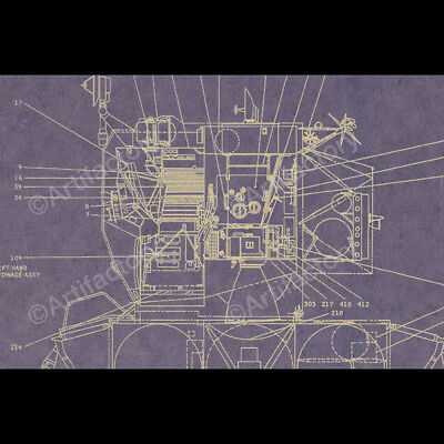 Master Replicas Lunar Excursion Module Component Layout NEW SEALED