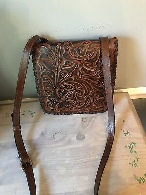 PATRICIA NASH ROSSANO Tuscan Tooled Leather Crossbody Organizer . 06e00cb8fc656