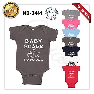 a54279fee1b5 baby shark Baby Boy Girl Toddler Jumpsuit Bodysuit Clothes Outfit 0-24M NEW