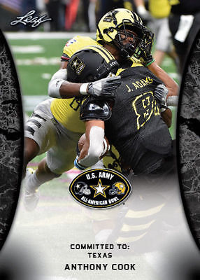 Anthony Cook 2018 Leaf 1St Ever Printed High School Army Rookie Card! Texas