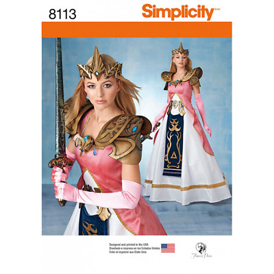 Misses' Costume Princess Zelda Inspired Gown Simplicity Sewing Pattern 8113