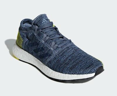 d3ba39dac62c5 New in Box Adidas Mens Size 10.5 Pureboost Go Running Shoes Steel Blue  85
