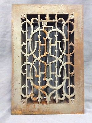 Antique Cast Iron Decorative Heat Grate Floor Register 7X11 Vintage Old 6-19D
