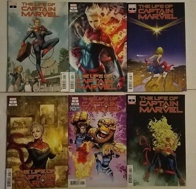 Life of Captain Marvel 1-3 Variants Quesada Lau Takeda Ramos Unread Lot of 6 NM+