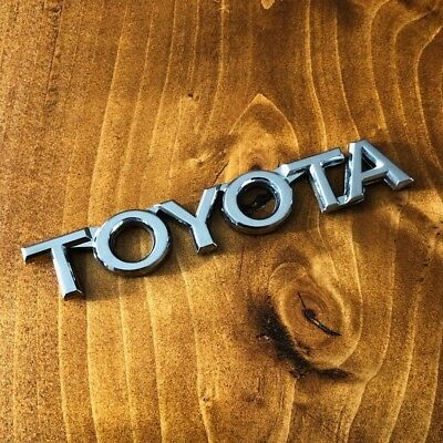 "New - Toyota™ Chrome Letters Trunk Emblem Sticker Badge Logo 4"" Camry Corolla"