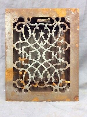 Antique Cast Iron Decorative Heat Grate Floor Register 8X10 Vintage Old 11-19D