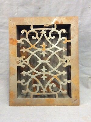Antique Cast Iron Decorative Heat Grate Floor Register 8X10 Vintage Old 12-19D