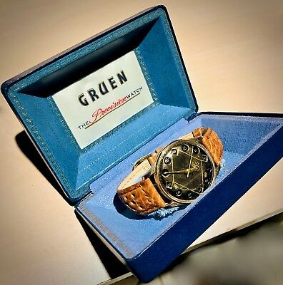 GRUEN AIRFLIGHT Mens Watch - 24hr Jump Dial Swiss, with BOX, CAL.422 R SS Manual