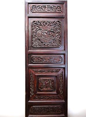 Antique Chinese Bedframe,  Wood Panel For Wall Deco 19c  (bb126)