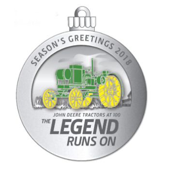 NEW -- 2018 John Deere Pewter Christmas Ornament -- 23 In This Series