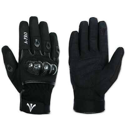 Textile Motorcycle Motorbike Scooter Sport Protective Gloves Sonicmoto Black XS
