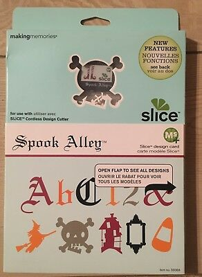 "Slice Elite Design Card Speicherkarte "" Spook Alley "" Making Memories Halloween"