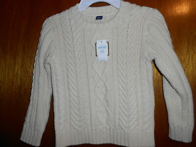 Nwt Baby Gap Tan Cable Knit Sweater Boy's Size 4 !!