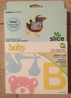 "Slice Elite Design Card Speicherkarte "" Baby  "" Making Memories Geburt Taufe"