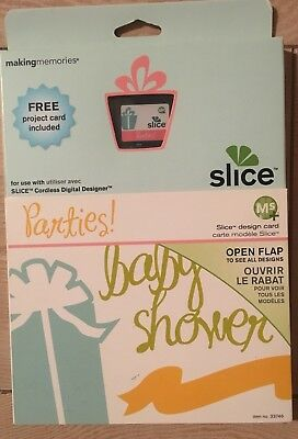 "Slice Elite Design Card Speicherkarte "" Parties "" Making Memories Baby Shower"