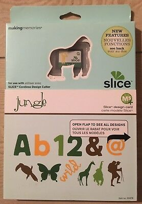 "Slice Elite Design Card Speicherkarte "" Jungle"" Making Memories  Dschungel Tiere"