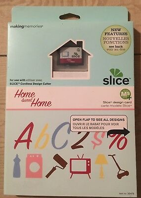 "Slice Elite Design Card Speicherkarte"" ABC Home sweet Home "" Making Memories"