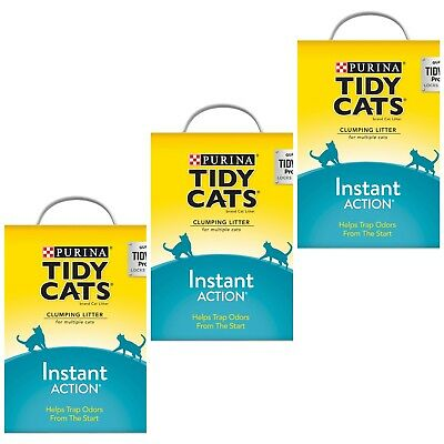 3×New Purina Tidy Cats Instant Action Clumping Cat Litter - 40lb. Box (120lbs)
