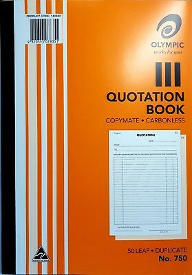 5 Pack Olympic 750 Carbonless Order Book - AO140880