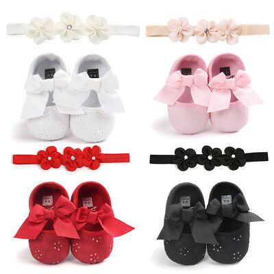 Newborn Baby Girl Shoes Bow Sandal Toddler Infant Sandles Soft Crib Shoes