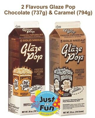 Caramel & Chocolate Glaze Pop | Popcorn Salt, Cinema Quality for Popcorn Machin