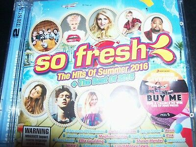 So Fresh The Hits Of Summer 2016 + The Best of 2015 Various 2 CD – New (Not Seal