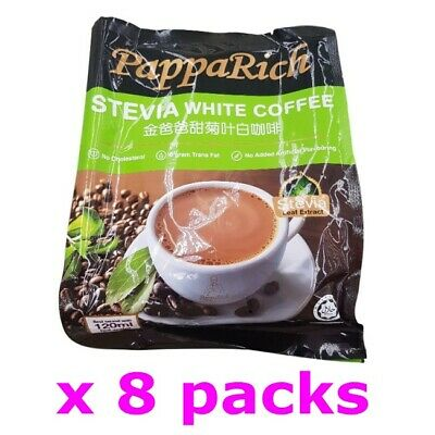 Papparich Malaysia Stevia 3 in 1 Instant Premix White Coffee (30g x 96 sachets)