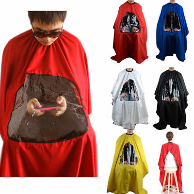 Pro Salon Barber Hair Cutting Gown Cape Viewing Window Hairdresser Hairdressing