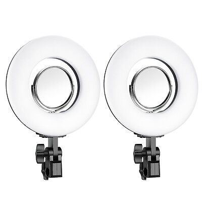 """2pcs 7.7"""" 24W Mini Dimmable LED Ring Light 5500K with 3.5"""" Mirror for Make up"""