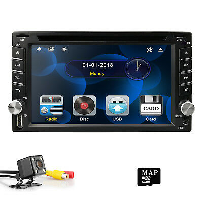 "6.2"" Double DIN Radio Audio Video Car GPS Navigation DVD Player BT Stereo USB SD"