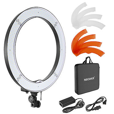"""18"""" 55W 240PCS LED SMD Ring Light with 14.8V 4400mAh Rechargeable Battery"""