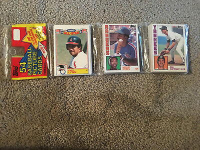 1984 TOPPS BASEBALL CELLO RACK 54 CARD JUMBO PACK DON MATTINGLY ROOKIE on TOP RC