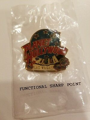Planet Hollywood Las Vegas Lapel Pin - Globe, Playing Cards and Chips
