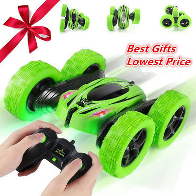 Stunt Remote Control Car for Kids Double Sided/360°Spins/180° Reversal RC Truck