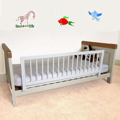 Wooden Bed Rail Baby Toddler Safety Guard Strong Durable Barrier Easy Install