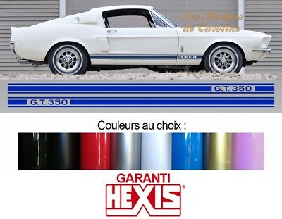 Sticker 2 X Bande Deco Ford Mustang Gt350 Sport Autocollant Auto Bd601