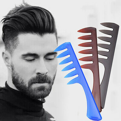 Wide Large Comb Hair Detangling Tooth Salon Barber Hairdressing Styling Brush