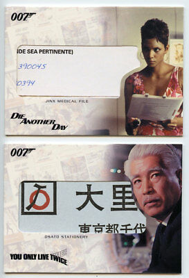 2 2007 Complete James Bond Relic Cards JINX FILE RC11 + OSATO RC16 HALLE BERRY