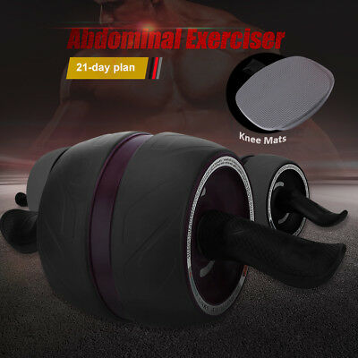 AU Ship Fitness Ab Carver Pro Exercise Wheel Roller Six Pack Abs Workout Gym