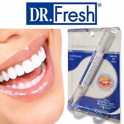 Dr Fresh TEETH WHITENING PEN Absolute White Gel Tooth Tea/Coffee Stain Remover