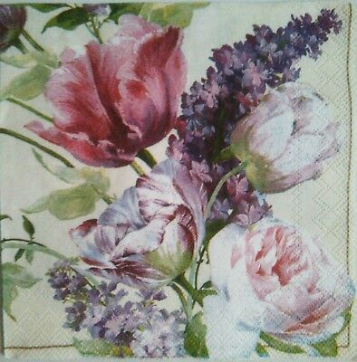4 Paper Napkins for decoupage.Romantic Vintage.Servilletas de papel decoupage.