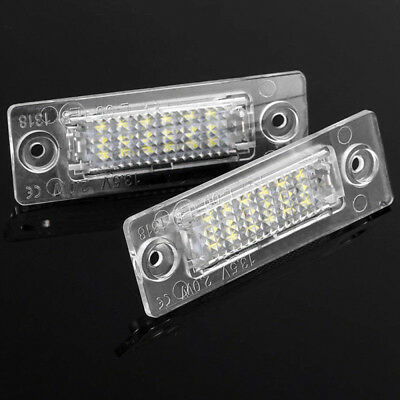 2 Bulbs LED License Number Plate Light For VW T5 Touran Golf Jetta Passat IUG